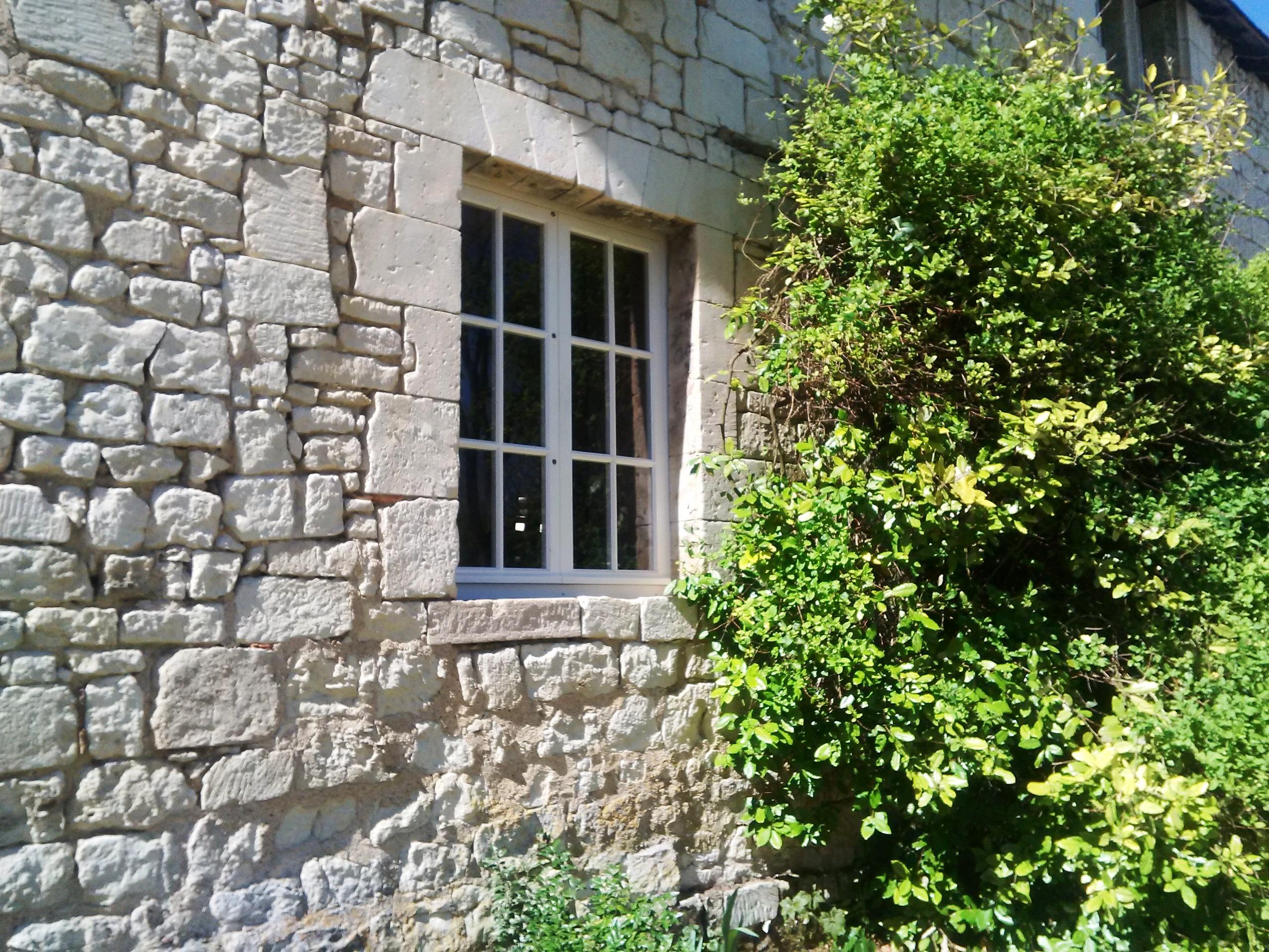 rénovation chateau, fenêtres