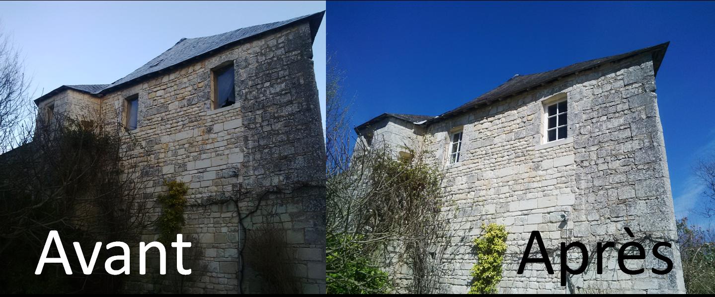 rénovation chateau, création fenêtre