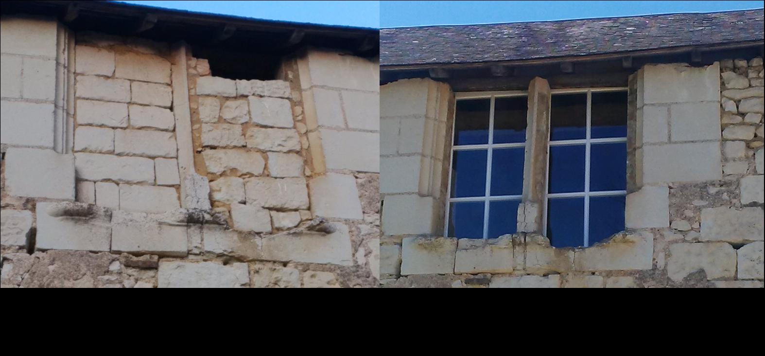 Ouverture fenêtre, huisseries, rénovation château
