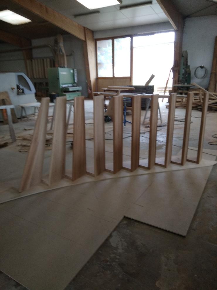 fabrication et pose escalier bois, sur mesure